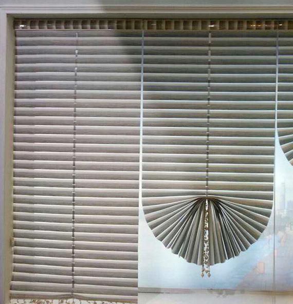 Fan-shaped Roman Blinds